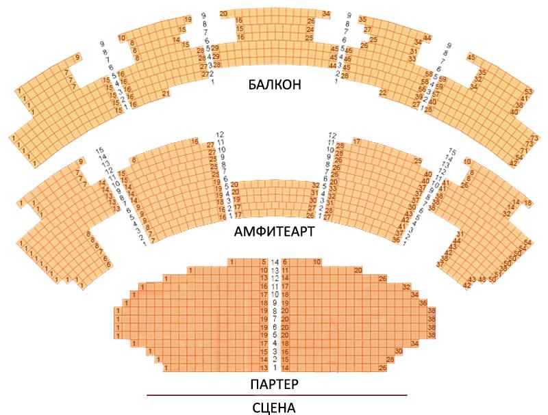 Схема зала театра